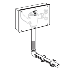American Standard 6067.321 - Concealed Selectronic Back Spud Toilet 1.28 gpf Flush Valve with Wall Box