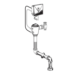 American Standard 6068.263 - Concealed Selectronic Top Spud Toilet 1.6 gpf Flush Valve