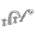 American Standard 7420.921 - Portsmouth Deck-Mounted Tub Filler with Cross Handles