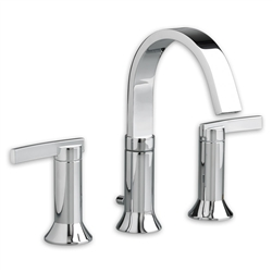 "American Standard 7430.801 - Berwick 2-Handle 8"" Widespread Wall-Mount Bathroom Faucet with Lever Handles"