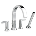 American Standard 7430.901 - Berwick Deck-Mount Tub Filler with Lever Handles
