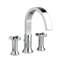 American Standard 7430.920 - Berwick Deck-Mount Tub Filler with Cross Handles