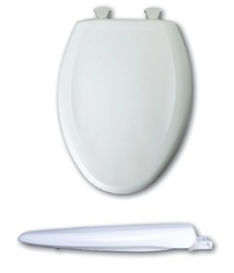 Bemis 1200SLOWT Elongated, Closed Front Toilet Seat. Slow closing quiet toilet seat.
