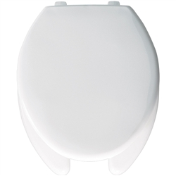 Church 293SS - Elongated, Open Front with Cover, SS Plastic Toilet Seat