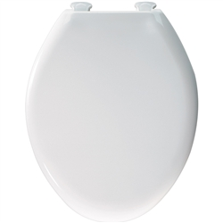 Church 380SLOWT - Elongated, Closed Front with Cover E2 STA Plastic Toilet Seat