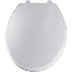 Church 3BT - Round, Closed Front with Cover STA MA Plastic Toilet Seat