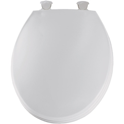 Church 3EC - Round, Closed Front with Cover, Easy Clean Plastic Toilet Seat