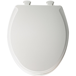 Church 640E2 - Round, Closed Front with Cover E2 Molded Wood Toilet Seat