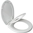 Church 683SLOW - Round, Closed Front with Cover E2 Molded Wood/Plastic Toilet Seat