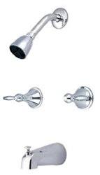 Central Brass 80997-L3 - Two Handle Tub & Shower Set with Lever Handles