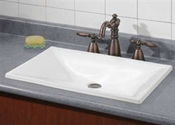 Cheviot 1180BIS - ESTORIL DROP-IN BASIN-22X15-BISCUIT