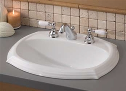 Cheviot 1375W-4 - SHEFFIELD DROP-IN BASIN-22X18-WHITE-4-inch