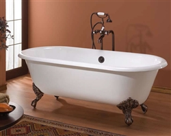 Cheviot 2127 - Regal Cast Iron Bath with Continuous Rolled Rim