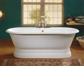 Cheviot 2120W - REGAL TUB-FLAT AREA-PAINTED WHITE-PEDESTAL BASE
