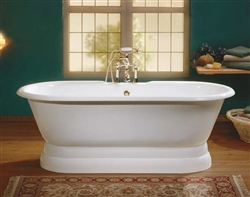 Cheviot 2121W - REGAL TUB-NO FLAT AREA-PAINTED WHITE-PEDESTAL BASE