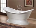 Cheviot 2153W - REGENCY TUB-PAINTED WHITE-PEDESTAL BASE