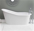 Cheviot 2158W - DAKOTA Cast Iron Bath with Flat Area on Rim