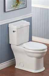Cheviot 382W-CH - Antique Water Closet, Elongated Front - White with Chrome Trip Lever