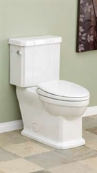 Cheviot 500W-CH - Mayfair Water Closet, Elongated Front 1.28GPF - White with Chrome Trip Lever