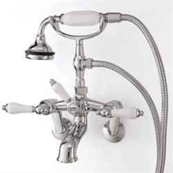 Cheviot 5100PB-LEV - TUB FILLER WITH HAND SHOWER-LEVERS-POLISHED BRASS