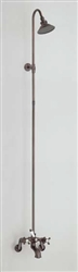 Cheviot 5158BN - TUB/SHOWER COMBINATION-CROSS HANDLES-BRUSHED NICKEL