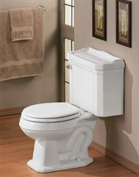 Cheviot 550W-CH - ESSEX WATER CLOSET-WHITE-CHROME TRIP LEVER