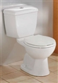 Cheviot 600W-CH - DUAL FLUSH WATER CLOSET-ROUND FRONT-WHITE-CHROME