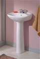 Cheviot 625W-SH - KENT PEDESTAL LAVATORY-19X16-WHITE-SINGLE HOLE