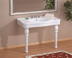 Cheviot 710W-8 - ASTORIA CONSOLE WITH LEGS-36X22-WHITE-8-inch