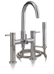 Cheviot 7512AB - CONTEMPORARY RIM MOUNT TUB FILLER WITH HAND SHOWER-ANTIQUE BRONZE