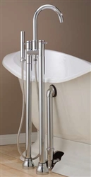 Cheviot 7565AB - CONTEMPORARY FREE STANDING TUB FILLER WITH HAND SHOWER-ANTIQUE BRONZE