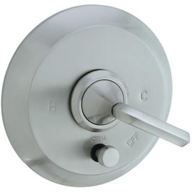 Cifial 201.611.620 - Hexa Pressure Balance Mixing Valve Trim Valve Trim with Diverter & Lever Handle