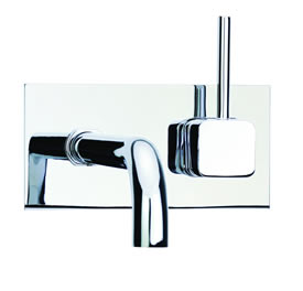 Cifial 224.152.625 - Techno Quadra Single Handle Wall Mount Lavatory Faucet