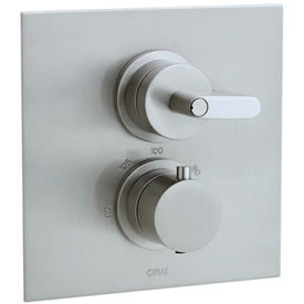 Cifial 231.614.620 - Techno M3 2 Hole Thermostatic Trim-St/Ni