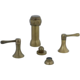 Cifial 244.125.V05 - Brookhaven Bidet with rosette spray Barrel Lever -Aged Brass