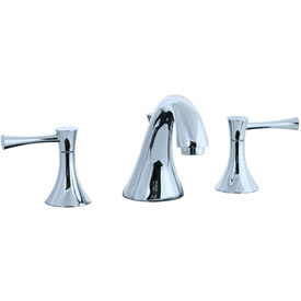 Cifial 245.110.625 - Brookhaven Widespread Lavatory Faucet with Crown Lever - Polished Chrome