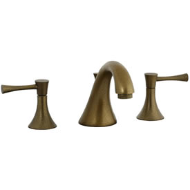 Cifial 245.110.V05 - Brookhaven Widespread Lavatory Faucet with Crown Lever -Aged Brass