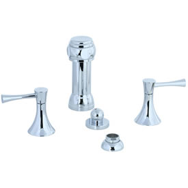 Cifial 245.125.625 - Brookhaven Bidet with rosette spray Crown Lever - Polished Chrome