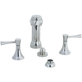 Cifial 245.125.721 - Brookhaven Bidet with rosette spray Crown Lever - Polished Nickel