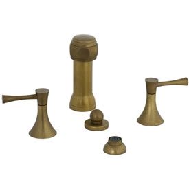 Cifial 245.125.V05 - Brookhaven Bidet with rosette spray Crown Lever -Aged Brass