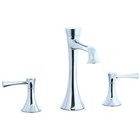 Cifial 245.130.625 - Brookhaven L Spout low with s Lavatory with Crown Lever - Polished Chrome