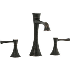 Cifial 245.130.D15 - Brookhaven L Spout low with s Lavatory with Crown Lever -Distressed Bronze