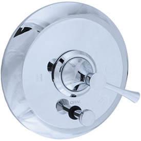 Cifial 245.611.625 - Brookhaven Pressure Balance Mixing Valve Trim with Diverter Crown Lever - Polished Chrome