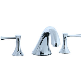 Cifial 245.640.625 - Brookhaven 3pc Roman Tub Filler Faucet Trim with Crown Levers - Polished Chrome