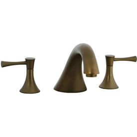 Cifial 245.640.V05 - Brookhaven 3pc Roman Tub Filler Faucet Trim with Crown Levers - Aged Brass