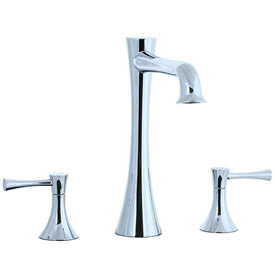 Cifial 245.650.625 - Brookhaven L Spout 3pc Roman Tub Trim with Crown Lever - Polished Chrome