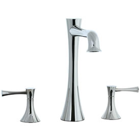 Cifial 245.650.721 - Brookhaven L Spout 3pc Roman Tub Trim with Crown Lever - Polished Nickel