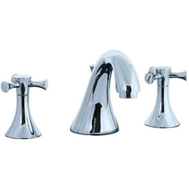 Cifial 246.110.625 - Brookhaven Widespread Lavatory Faucet with Crown Cross - Polished Chrome