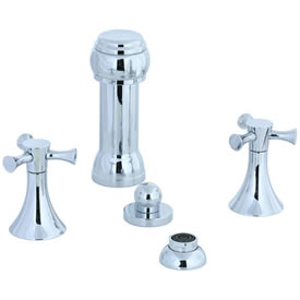 Cifial 246.125.625 - Brookhaven Bidet with rosette spray Crown Cross - Polished Chrome