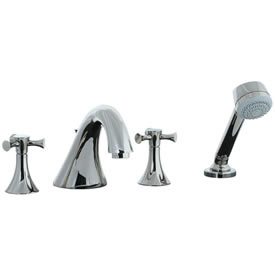 Cifial 246.645.721 - Brookhaven 4pc Roman Tub Crown Cross - Polished Nickel